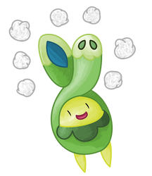 Budew with Cotton Spore