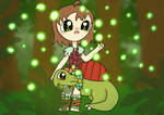 Stoneage girl discovers fireflies