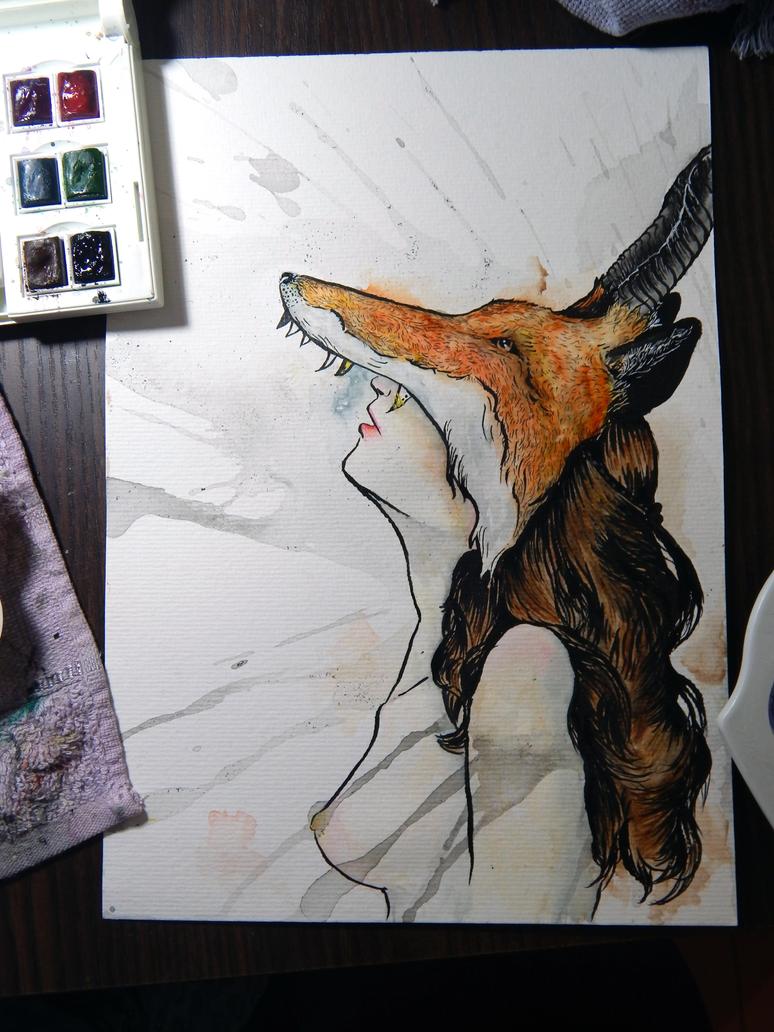 Fox face by nornas