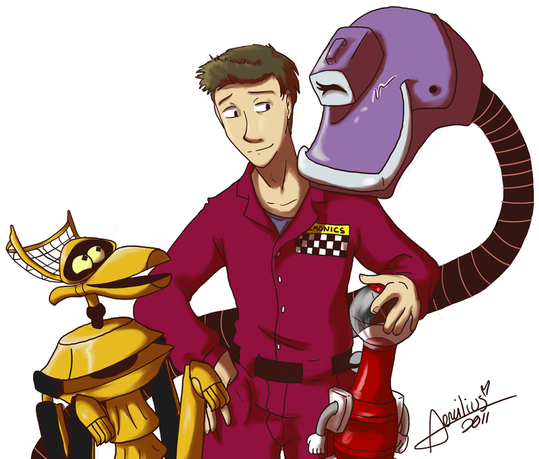 To Make His Robot Friends by aemilius