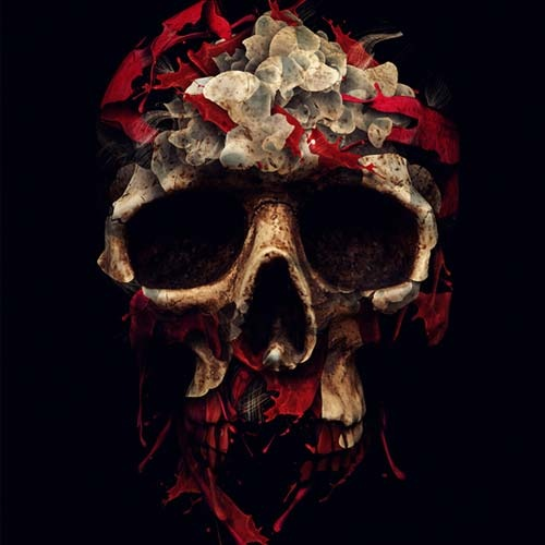 skull photo manipulation
