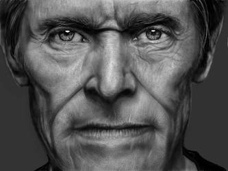 Digital drawing of Willem Dafoe