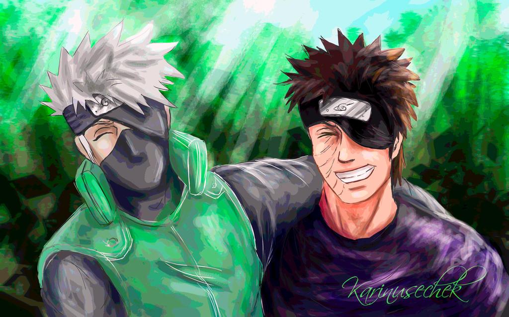 Kakashi and Obito by karinusechek