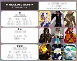 Commissions (WAITING LIST CLOSED) by Mrakobulka