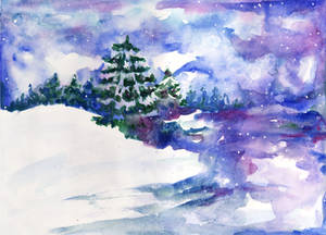 Winter watercolor 2