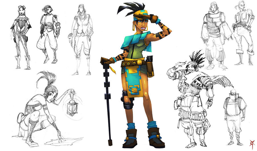 Character Design Summer Classes : Character design class adventurer by theragingspaniard on