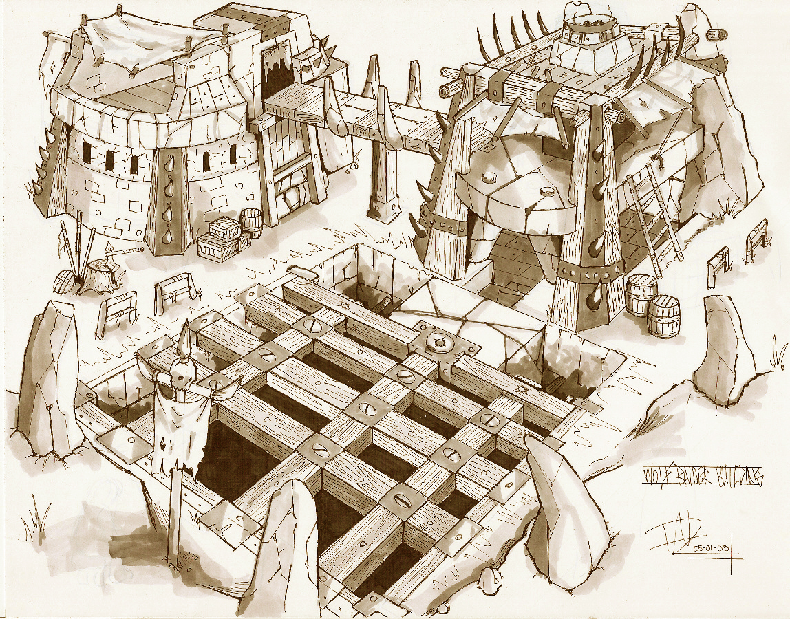 Orc Wolf Buildings By Candywarlock On Deviantart