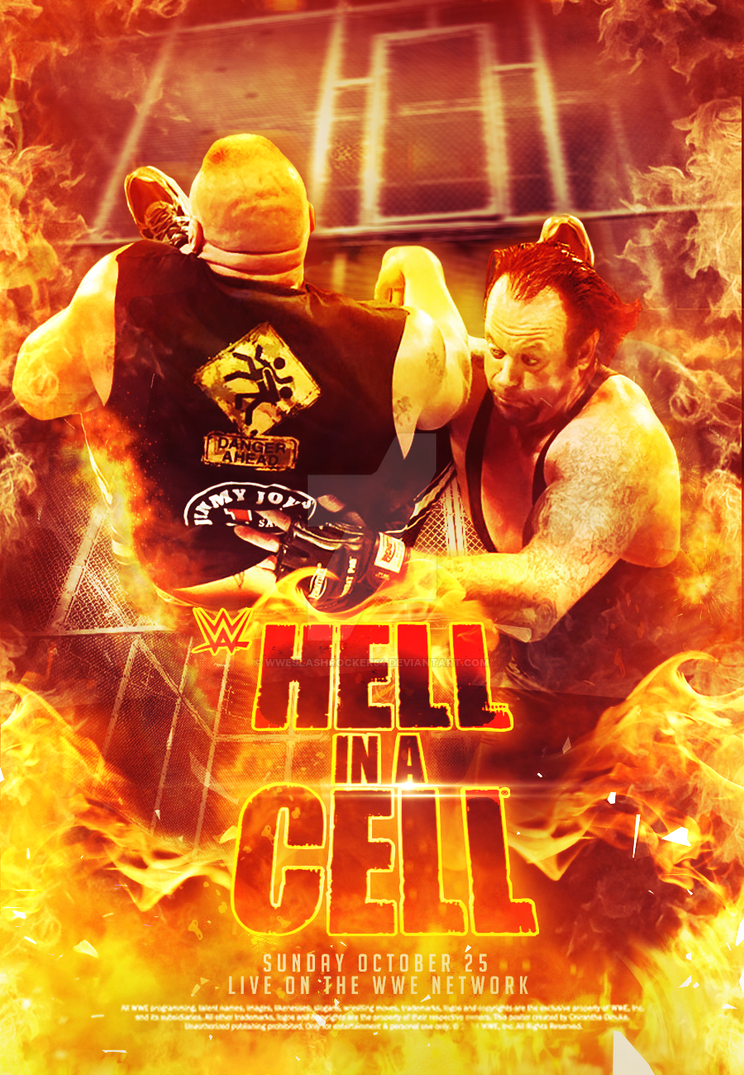WWE Hell In A Cell 2015 Poster by WWESlashrocker54