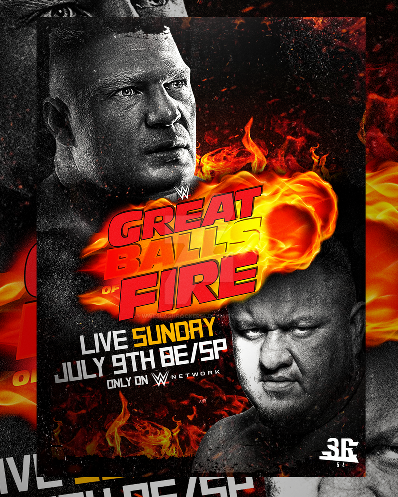 WWE Great Balls of Fire Poster by WWESlashrocker54