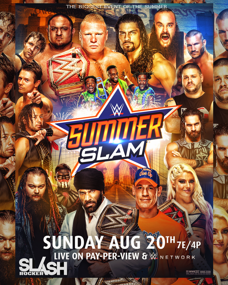 Image result for summerslam 2017 poster