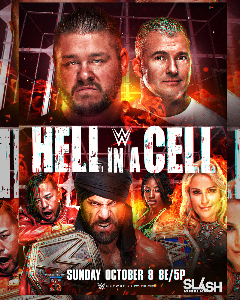 WWE Hell in a Cell 2017 Poster by WWESlashrocker54