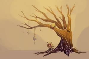 Hoothoot Tree by spaded-square