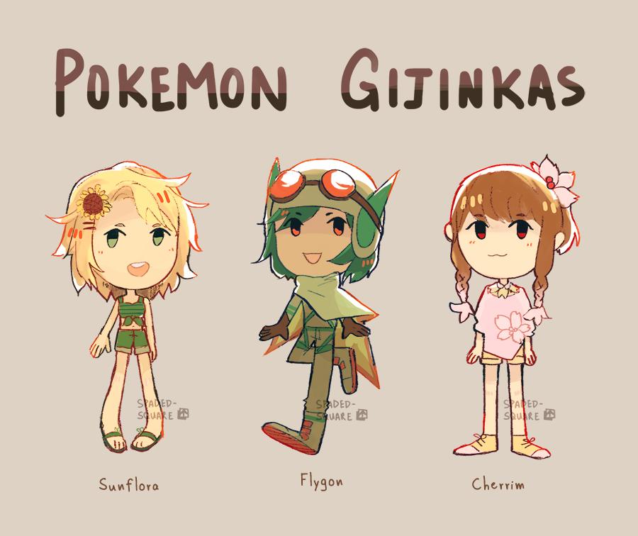 Pokemon Gijinka Adopts 3 Open 23 By Spaded Square On Deviantart