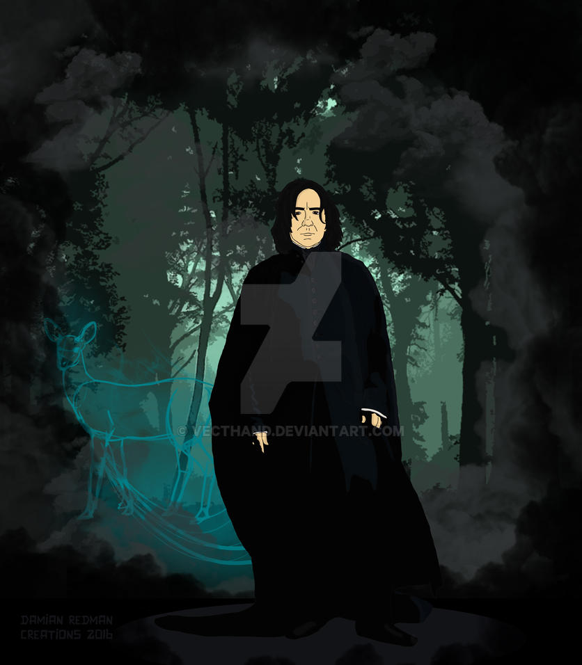 Alan Rickman as Severus Snape by Vecthand