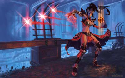 Diablo 3 Wizardess- Cathedral by artzilla