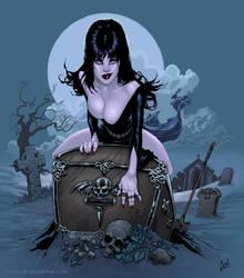 Elvira's Giftbox by artzilla