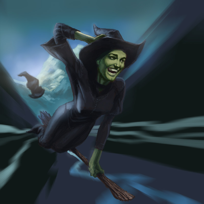 Elphaba Defying Gravity By Artzilla On Deviantart