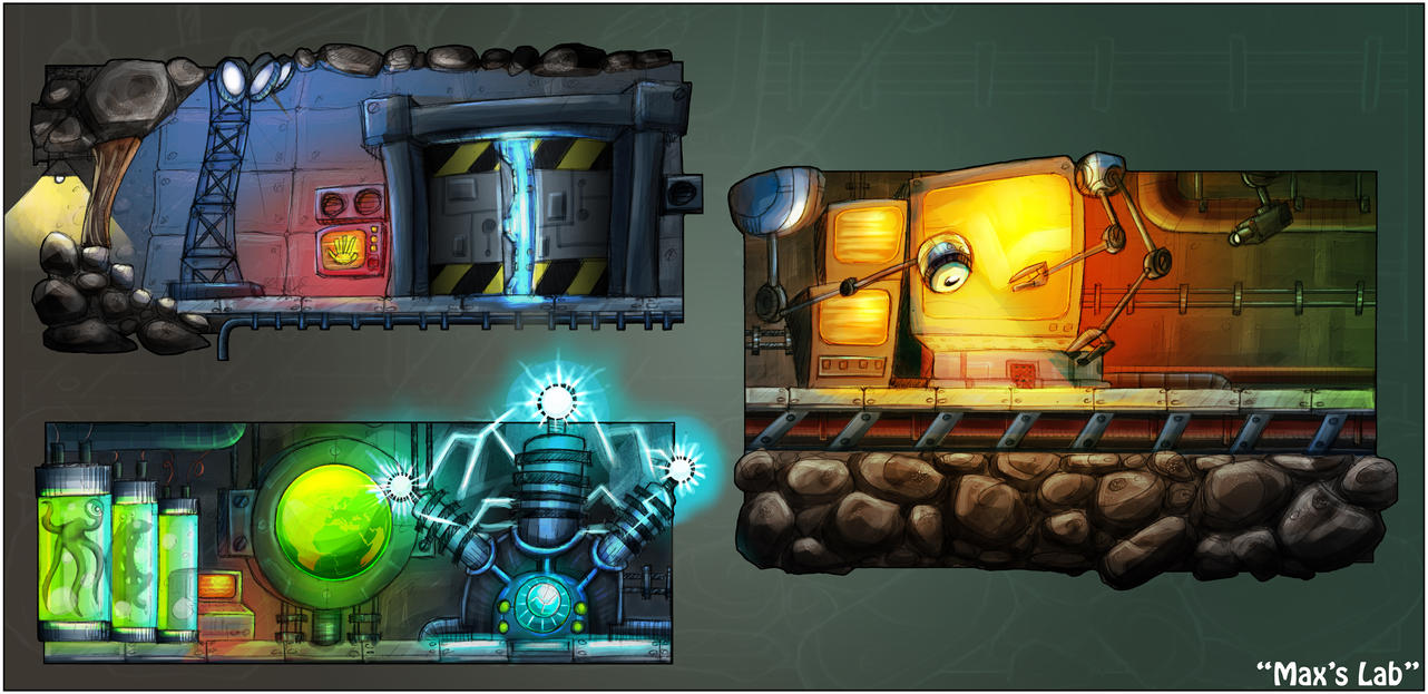 Game Level Concept Work 2 - Max's Lab by DanLHughes