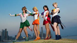 Sailor Scouts by aratkrision