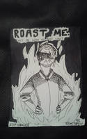 Inktober 2018 - 3. Roasted by AcidCatFreak