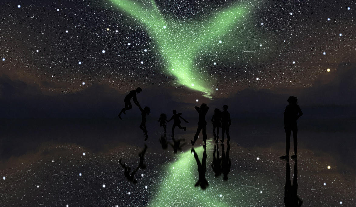 earth and sky seem to meet