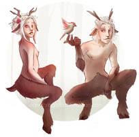 Satyrs by WanderingLola