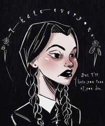 Wednesday Addams by WanderingLola