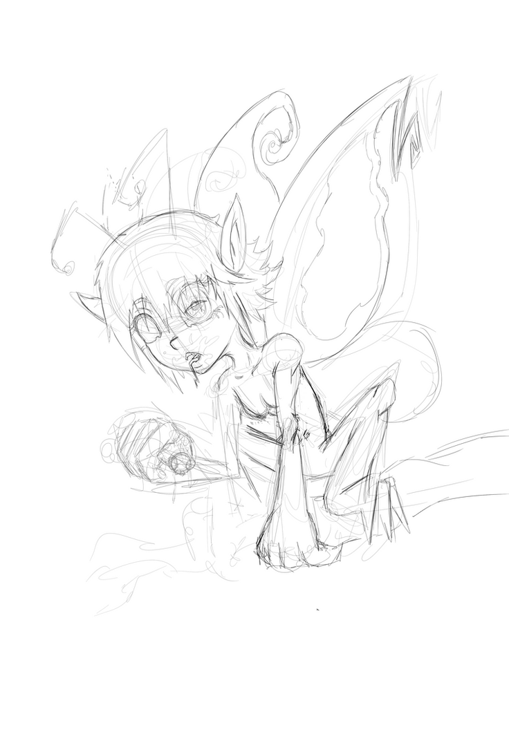Fairy Sketch by indonesianbob67