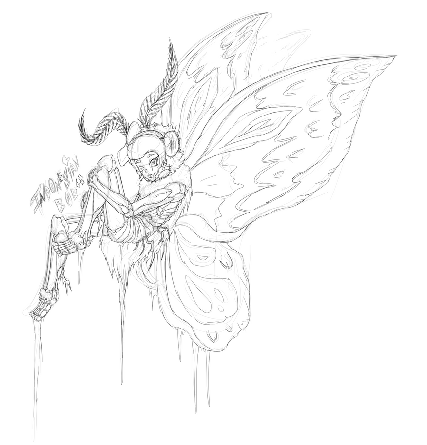 Moth Girl by indonesianbob67