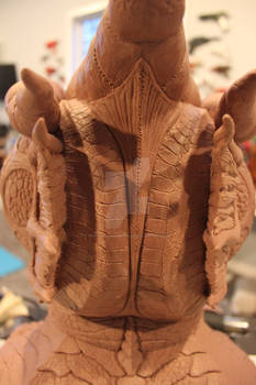 Abyssunaut mask sculpture back view