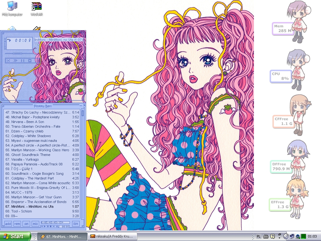 Miwako-chan on my computer 2 by Pea-Atalante