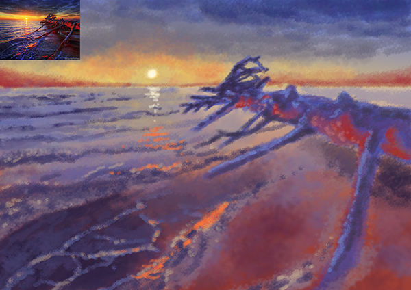 Sunset speedpaint by saito20