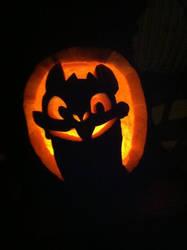 Toothless Pumpkin by LindyArt