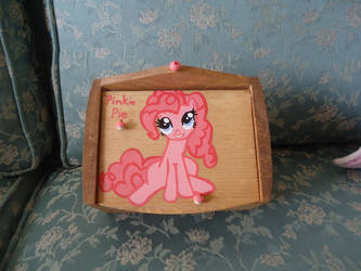 Pinkie Pie Recipe box by LindyArt