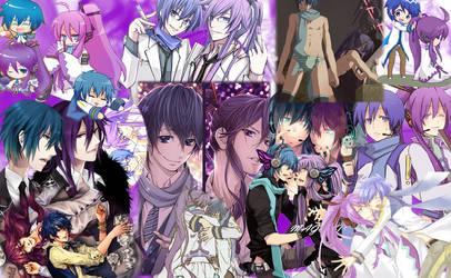 Gakupo and Kaito Collage by xXxEnXx