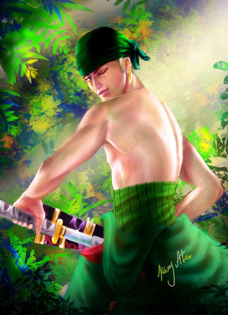 One Piece Roronoa Zoro by KioryAlion