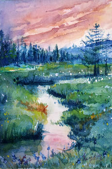 Landscape Water colour