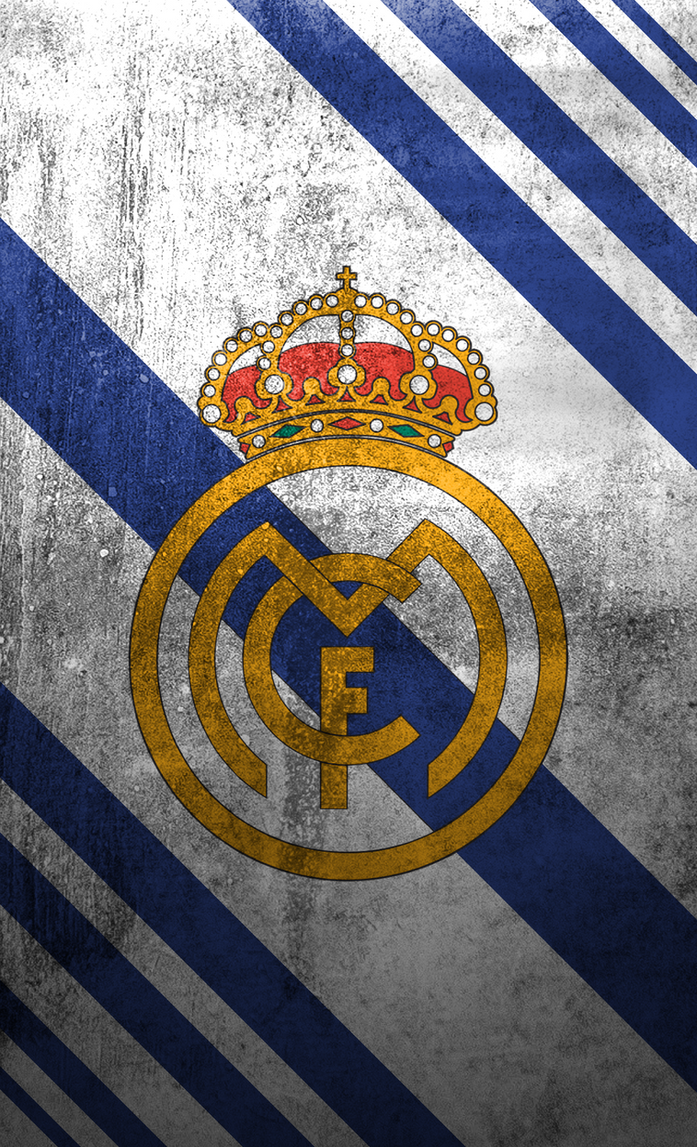 real madrid logo mobile wallpaper 1 by adik1910 on