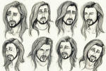 Face expression sketches #5 by PenguinPhilip