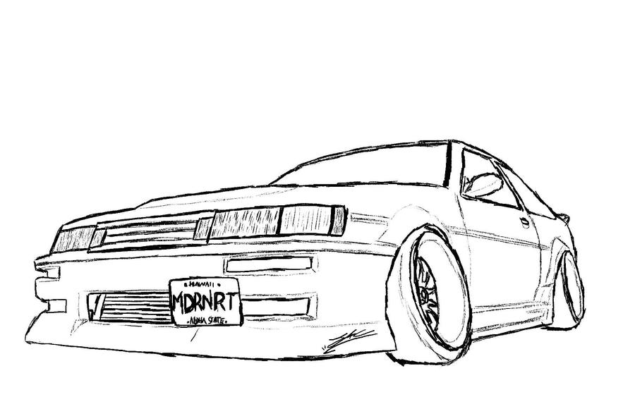 corolla coloring pages | Ae86 Coloring Pages