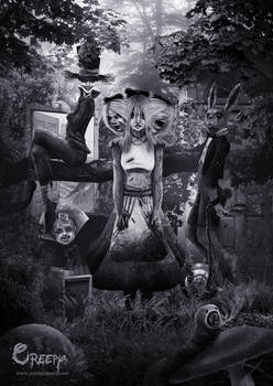 Creepy Alice in wonderland