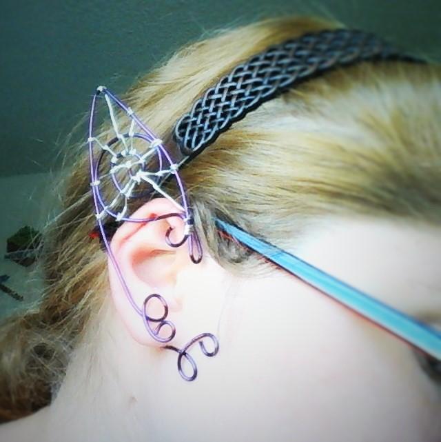 Halloween SpiderWeb elf ear wraps by Deamonblade12