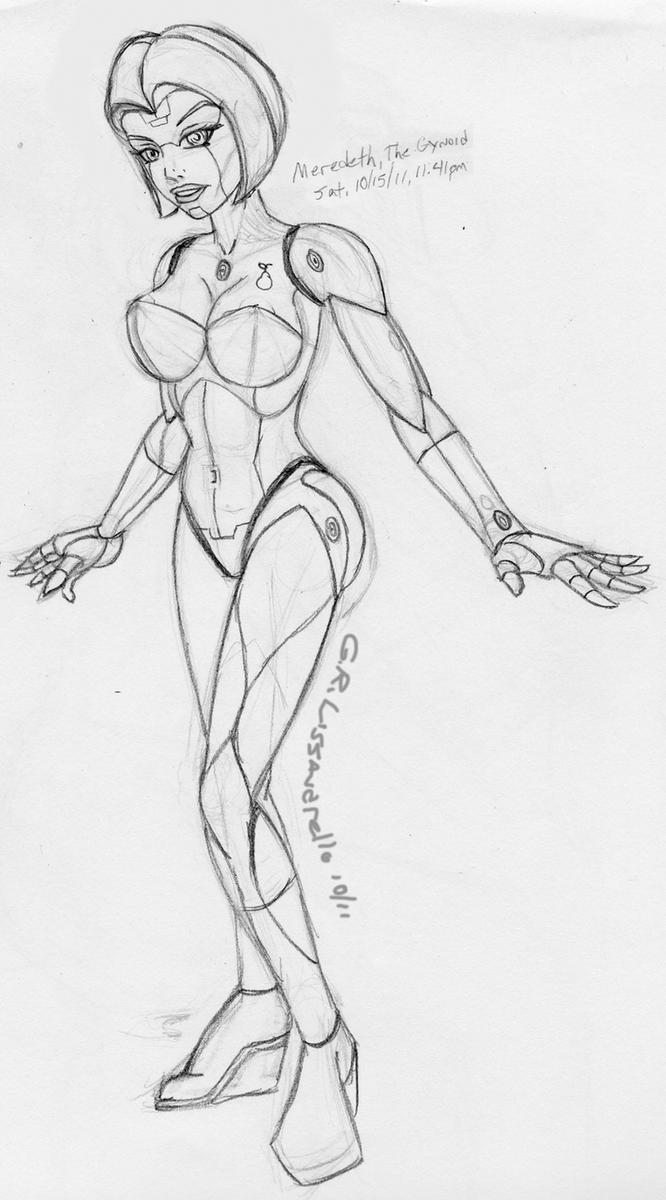 Meredeth The Gynoid-WIP Sketch by laughingvulcan