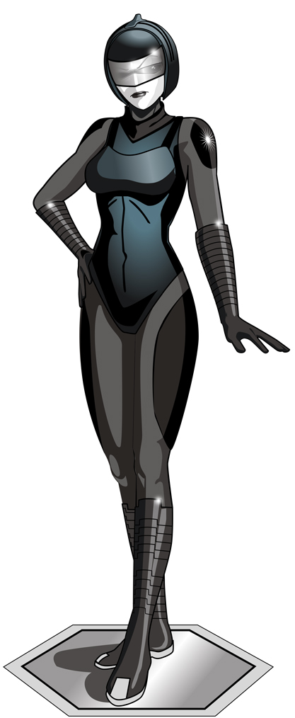 Standing Armored Gynoid by laughingvulcan