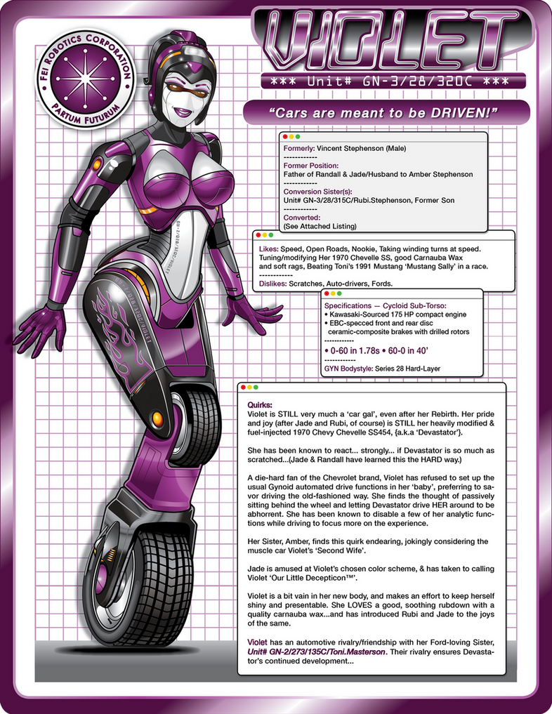 VIOLET (v002) - Cycloid Tech Specs by laughingvulcan