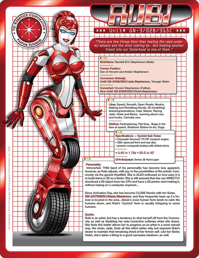 RUBI (v002) - Cycloid Tech Specs by laughingvulcan