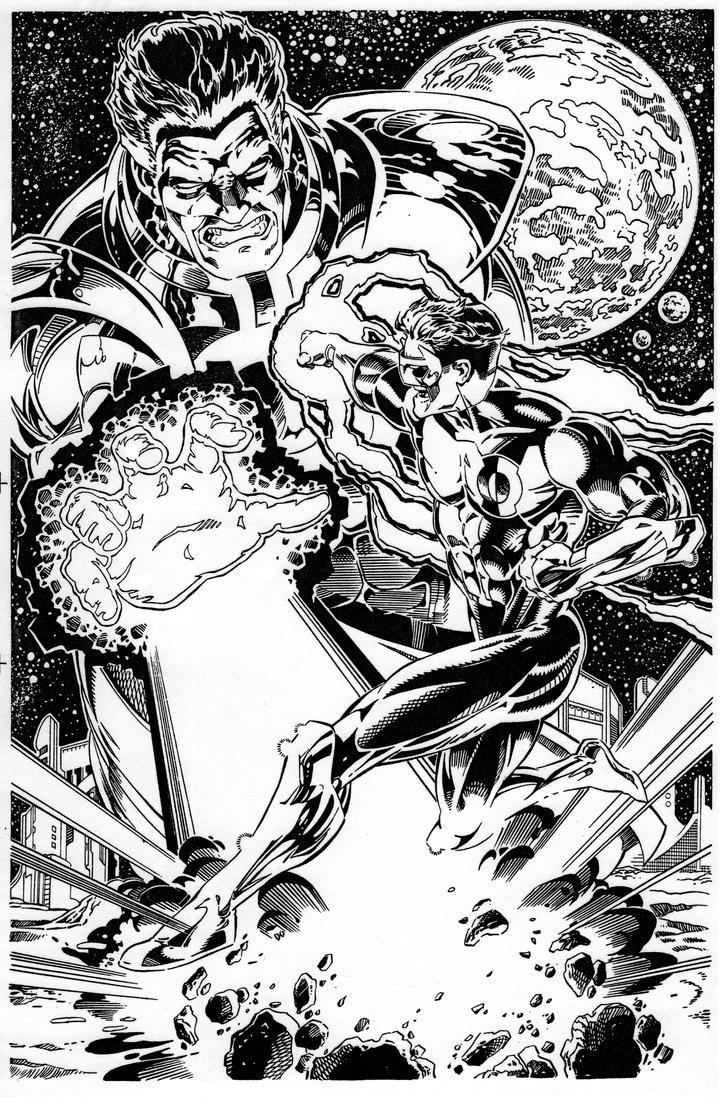 Green Lantern vs. Parallax by Bankster