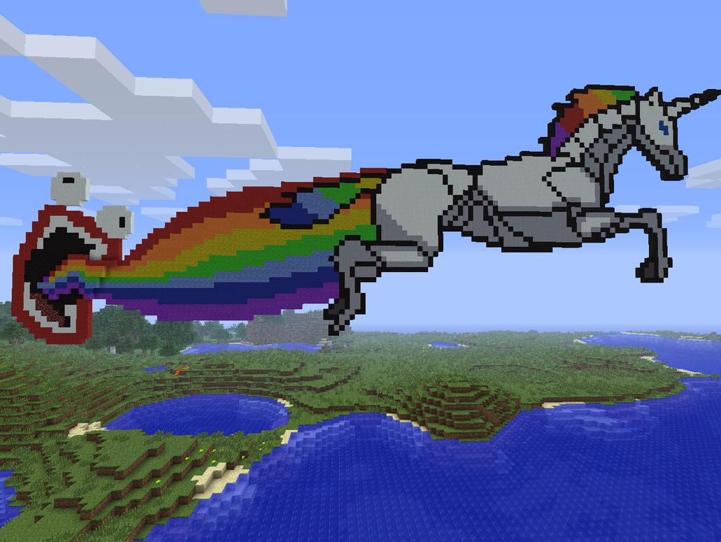 Barfing Unicorn Pixel Art Minecraft Www Imagessure Com