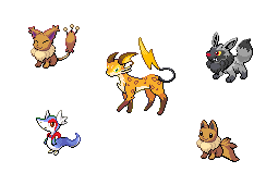 The gallery for --> Shiny Eeveelution Sprites