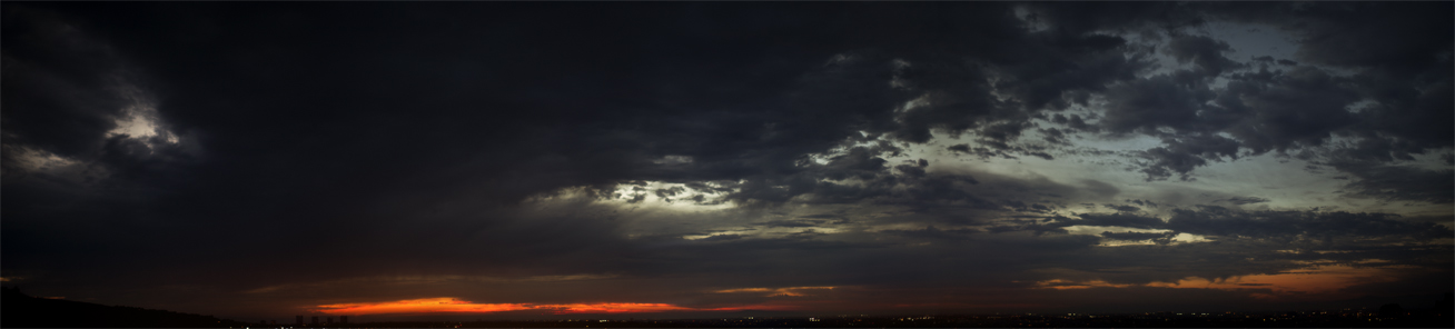 Sunset pano by leventep
